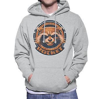 Marvel Guardians Of The Galaxy Rakete Distressed Headshot Männer's Kapuzen Sweatshirt