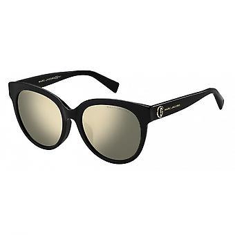 Sunglasses Women's Wanderer/Round Black/Gold