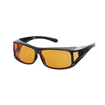 Sunglasses Unisex black with orange lens VZ0001C