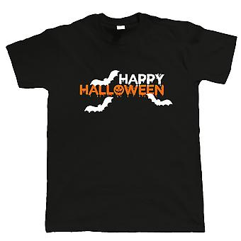 Happy Halloween Mens T Shirt - Bats Pumpkin Fancy Dress Trick ou Treat Spooky