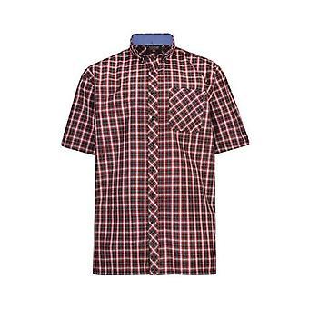 Espionage Navy & Red Check Shirt
