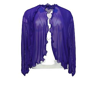 Pyramid Collections Women's Plus Sweater Open Front Shrug Purple