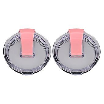 2pcs Clear Pink Spill Proof Lids for 20oz Tumbler Travel Cup