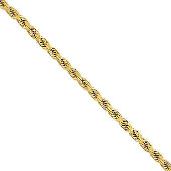 14k צהוב זהב מלא מנצנץ לחתוך לובסטר טופר הסגר 8 מ מ D לחתוך חבל חבית שרשרת אבזם הקרסול 9 אינץ מתנות תכשיטים עבור
