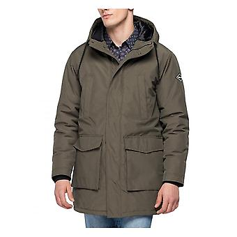 Replay Jeans Replay Mens Militaire Long Parka Jas Khaki