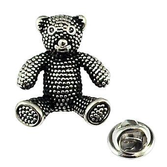 Ties Planeta Antiguo Acabado Teddy Bear Lapel Pin Insignia