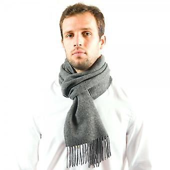 Ties Planet Plain Anthracite Grey 100% Wool Scarf