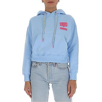 Chiara Ferragni Cff133lbl Femmes-apos;s Light Blue Cotton Sweatshirt
