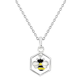 Dew Sterling Silver Dinky Bee And Combe Pendant 9558ME028