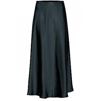 b.young Gunilla Silky Teal Skirt