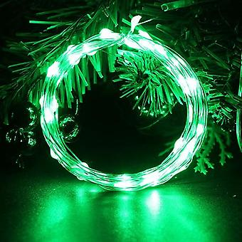 Led String Battery Operated Sliver Wire Fairy Garland Light, Boże Narodzenie na zewnątrz