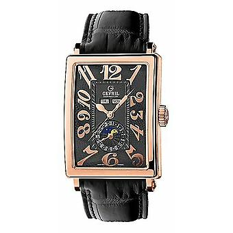 Gevril Men's 5131 Avenue of Americas Automatic Rose Gold Moonphase Polshorloge