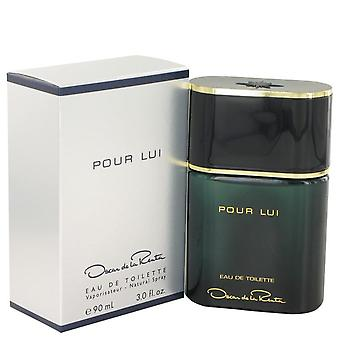 Oscar Pour Lui Eau De Toilette Spray door Oscar De La Renta 3 oz Eau De Toilette Spray