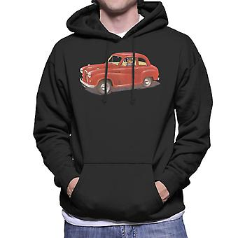 Austin A35 Red British Motor Heritage Men's Hooded Sweatshirt