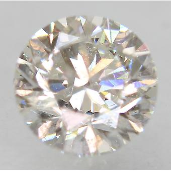 Zertifiziert 0.54 Karat F VS2 Round Brilliant Enhanced Natural Loose Diamond 5.12mm