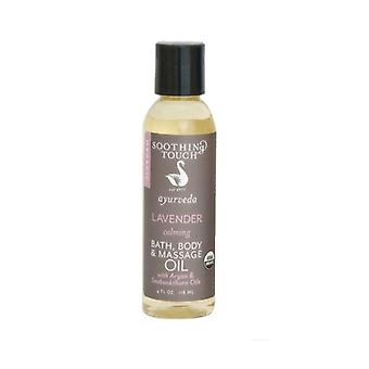 Soothing Touch Bath Body & Massage Oil, Lavender 4 oz