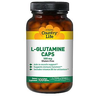 Country Life L-glutamiini, 500 mg, B-6 100 korkkia