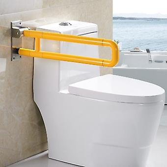 Folding And Sitting Up To Help Armrest Bathroom Barrier - Elderly Disabled Toilet Safety Handrails
