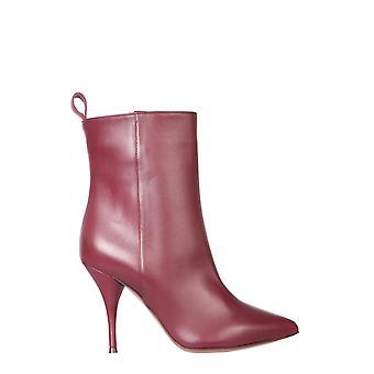 L'autre Chose Ldh00485wp26154018 Women's Burgundy Leather Ankle Boots