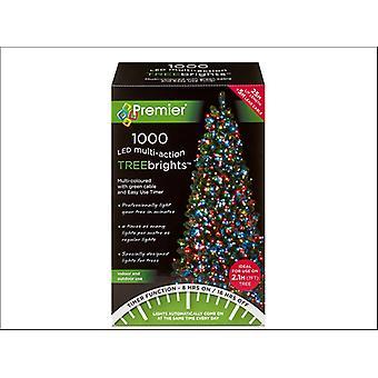 Premier Decorations Multi-Action Tree Bright 1000LED 8H Multi-Coloured LV162179M