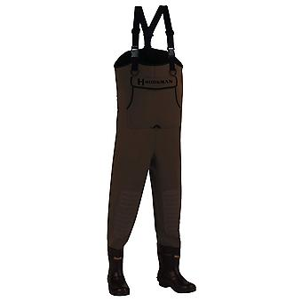 Hodgman CASTCBC11 Caster Neoprene Cleated Bootfoot Chest, Brown, Size 11.0