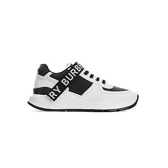 Burberry 8011531a1189 Damen's Weiß/Schwarz Leder Sneakers