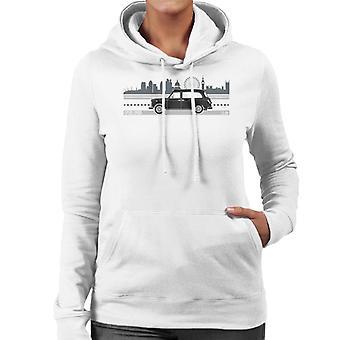 London Taxi Company TX4 Driving Along The City Women's Hooded Sweatshirt