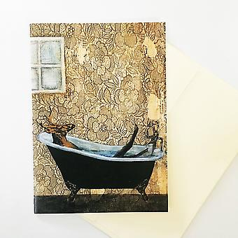 Bathtub Deer Card