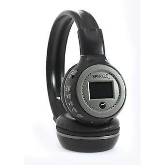 Zealot B570 Wireless Headphones with LED Display and FM Radio - Bluetooth 5.0 Wireless Headphones Stereo Studio Gray