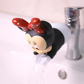 Disney Minnie Mickey Faucet Extender agua ahorro de dibujos animados grifo herramienta de extensión