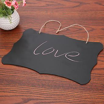 Rectangle Hanging, Wooden Blackboard, Double-sided Erasable Chalkboard, Office,