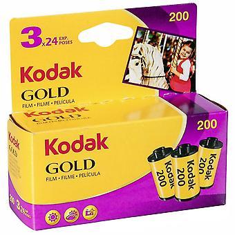 Kodak 6033971 kulta 200 filmi (violetti/keltainen) - 3 rullaa - 24 altistusta rullaa kohti
