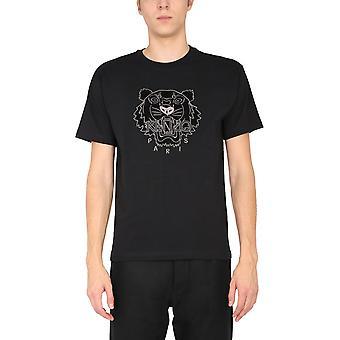 Kenzo Fa65ts0654yi99 Men's Black Cotton T-shirt