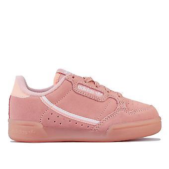 Girl's adidas Originals Children Continental 80 Trainers in Pink