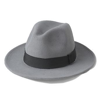 Wolle Männer Filz Trilby Fedora Hut für Gentleman Wide Brim Top Cloche Panama