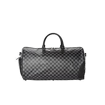 SPRAYGROUND HENNY CHECKERED BLACK DUFFLE BAG