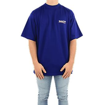 Balenciaga Large Fit T-Shirt Blue 641675TIV521195 Top
