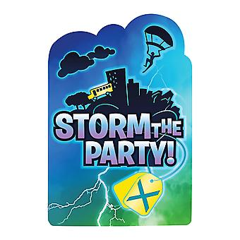 Battle Royal Storm The Party Postcard Invitations (Pack Of 8)