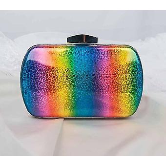 Fashion Rainbow Box Evening Bag