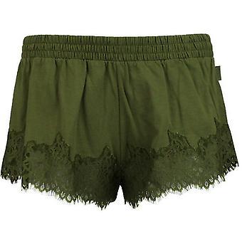 Puma Rihanna Fenty Dámske čipky Trim Sleepwear Šortky Olive Branch 574302 02 R9A