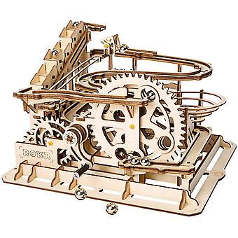 ROKR Hand Cranked Marble Run Wooden Model Kits Assembly 3D Wooden Puzzle Mechanical Model Kits
