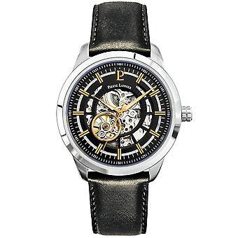 Miesten kellot Pierre Lannier automaattinen automaattinen kellot musta 329F133 - Musta nahka rannekoru