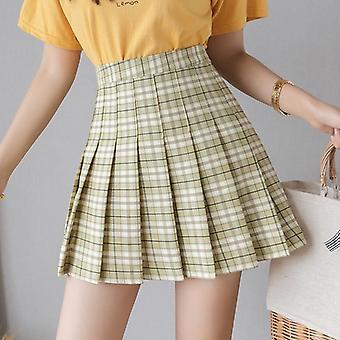 Kvinder Style Plaid Mini Nederdele