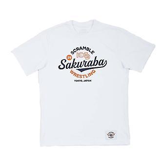 Scramble x KS Sakuraba Wrestling T-Shirt White