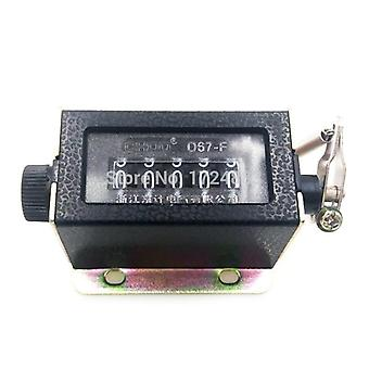Digit Counters Black Casing Mechanical Pull Stroke Manual Counter