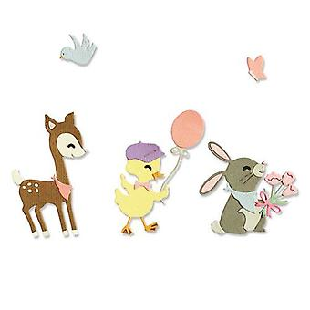 Sizzix Thinlits Die Set - 5pk Baby Animals 665070 Jen Long-Philipsen
