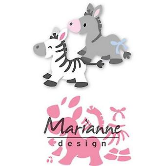 Marianne Design Collectables Snijdrijzen - Eline&s Zebra & Ezel Col1447