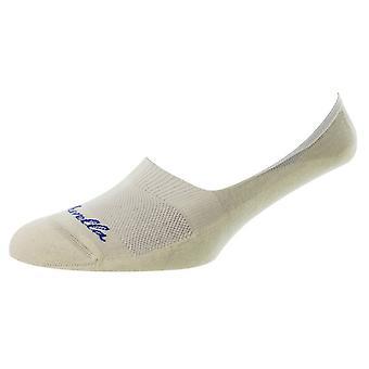 Pantherella Stride Invisible Cushion Sole Socks - Cream