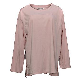 Carole Hochman Women's Pajama Top Silky Velour Fleece Pink A368290