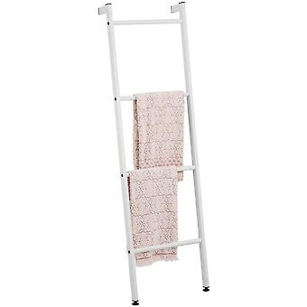 mDesign Ladder Style Towel Rail — Free-Standing Towel Rack with 4 Levels for Bath Towels